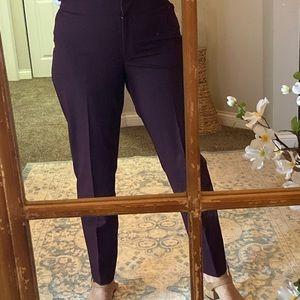 Loft Curvy Slim Leg Slacks